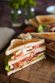 Freshly made clubsandwich — Stock Photo