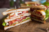 Freshly made clubsandwich — Foto Stock
