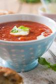 Tomato soup — Zdjęcie stockowe