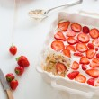 Strawberry tiramisu — Stock fotografie