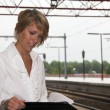 Working at the trainstation — Stock Photo #2948570