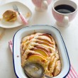 Nectarine almond pie — Foto Stock