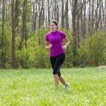 Running woman — Stock Photo #5431251
