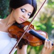 Royalty-Free Stock Photo: Pretty violonist