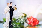 Wedding cake topper — Stock Photo