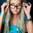 Royalty-Free Stock Photo: Blonde with glasses