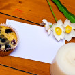 Stockfoto: Cupcake with note