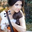 Pretty violinist — Stock Photo