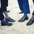 Groomsmen and groom's feet — Stock Photo