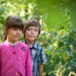 Boy and girl in park — Stock Photo #24036637