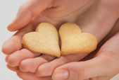 Hearts and hands — Stock Photo