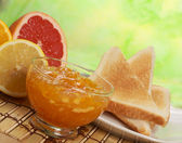 Marmalade for breakfast — Stock Photo