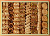 Box of baklava — Stock Photo