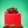 Nice red christmas gift — Stock Photo