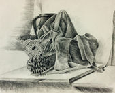 Still life sketch — Stock Photo