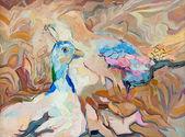 Pawia i peahen — Zdjęcie stockowe