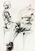 Woman sketch — Stock Photo