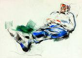 Man lieing on sofa — Stock Photo