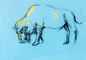 Buffalo painting — Stock Photo