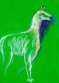Llama sketch — Stock Photo