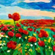 Poppy fields — Stock Photo