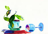Water color painting — Stock Photo