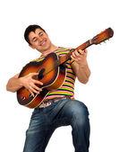 Muž hraje na kytaru — 图库照片