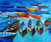 łodzie — Zdjęcie stockowe