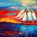 Sail ship — Stock Photo #34196943