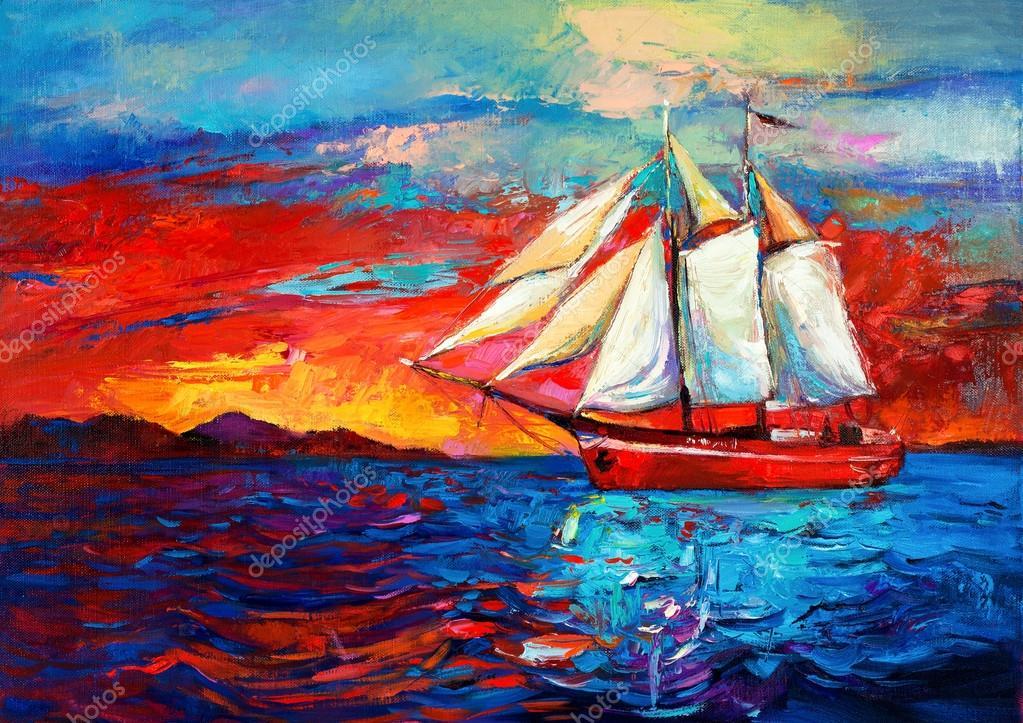 Обои с тегом:море, закат, корабль, пейзаж
