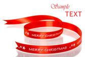 Merry Christmas ribbon — Stock Photo