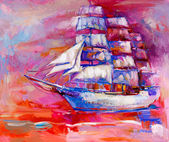 Segel schiff — Stockfoto