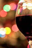Rotwein und bokeh — Stockfoto