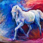 Blue horse — Stock Photo #41250873