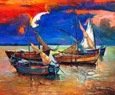Barche da pesca — Foto Stock
