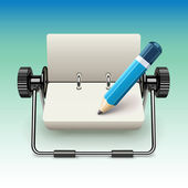 Notepad on stand with pencil — Stock Vector