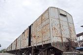 Oude trein bogy — Stockfoto