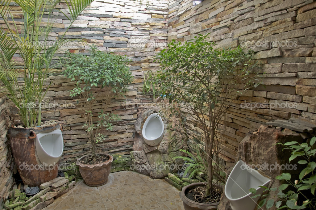 Toilet with garden style stock photo 169 meawpong2008 24219621