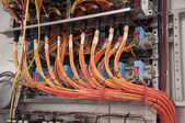 Electrical wiring control panel — Stock Photo