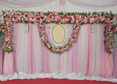 Marriage flower curtain — Stock Photo