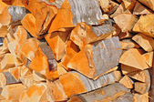 Chipped fire wood — Stockfoto