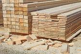 Edging board in stacks — Stock Photo