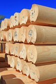 Panel kruhové kalibrované stavby ze dřeva — Stock fotografie
