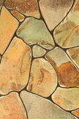 Fragment of a wall from a chipped stone — Stock Photo
