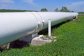 O gasoduto de alta pressão — Foto Stock