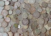 Antiche monete d'argento — Foto Stock