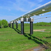 The high pressure pipeline — Stock Photo