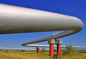 The high pressure pipeline — Foto Stock