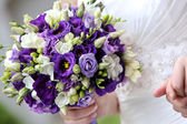 Bride with the bouquet — Stock Photo