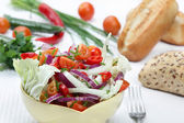 Salad with hot peppers — Stock Photo